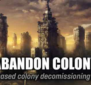 Abandon Colony Mod for Stellaris