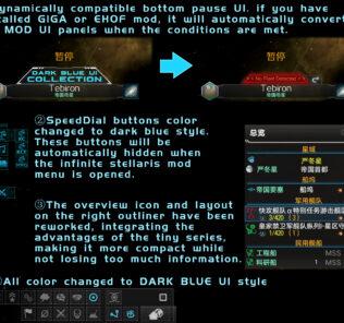 Dark Blue Ui Collection Mod for Stellaris