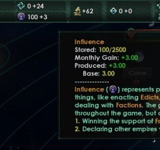 Influence Cap+ Mod for Stellaris